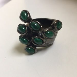 Yves Saint Laurent YSL Silver Arty Ring